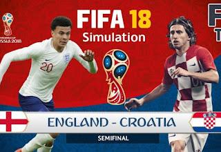 انتهت مباراه انجلترا وكرواتيا11-7-2018 بفوز كرواتيا بنتيجه ٢-١ والتاهل للنهائي لمقابله منتخب فرنسا