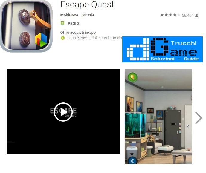 Soluzioni Escape Quest di tutti i livelli | Walkthrough guide
