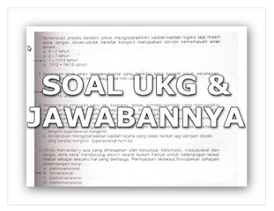 Soal Latihan UKG 2016 Dilengkapi Dengan Kunci Jawaban File Pdf