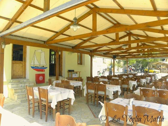 ristorante Avra a Kioni, isola di Itaca