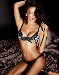 Irina Shayk Hot Look On Bed In Lingerie