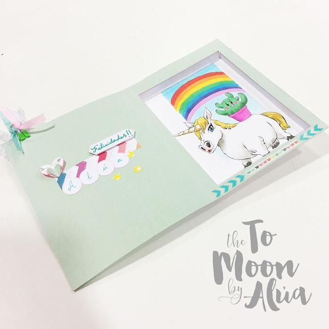 tarjeta DIY con ilustración hecha a mano