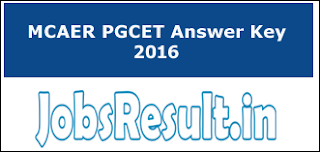 MCAER PGCET Answer Key 2016