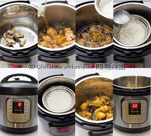 冬菇炆雞飯製作圖 Shiitake Chicken and Rice in Instant Pot Procedures02
