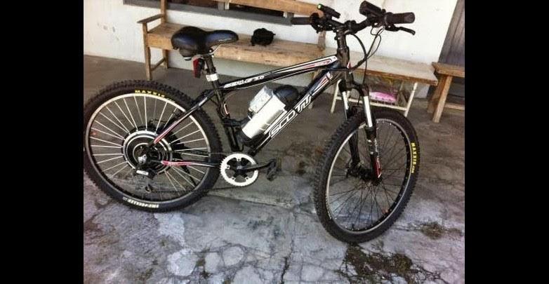 Sepeda gunung listrik Eddy Santoso