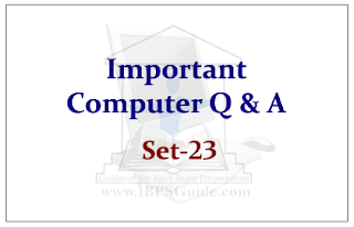 Important Computer Questions for Upcoming Bank PO and Clerk Exams