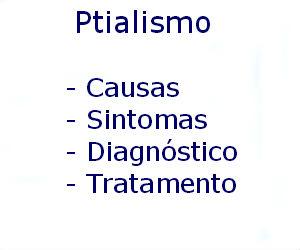 Ptialismo causas sintomas diagnóstico tratamento prevenção riscos complicações