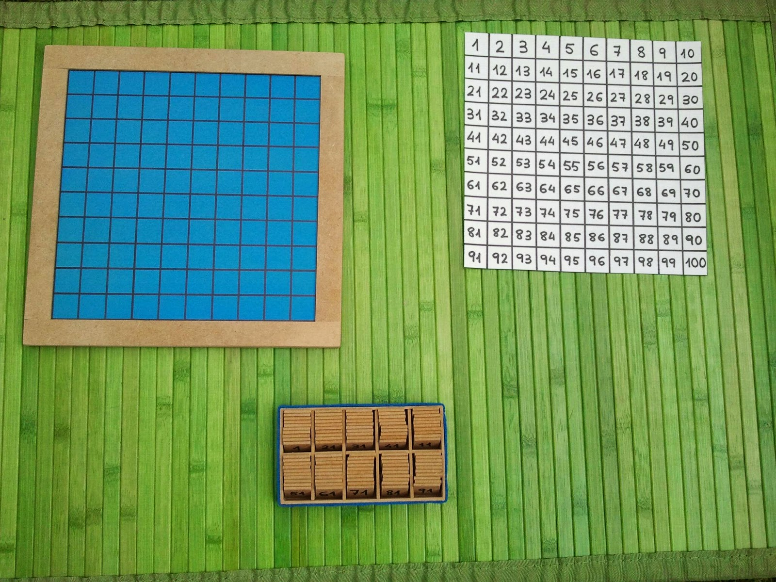 Criar Amar Vivir Tablero Del 100 Montessori Fabricacion Casera
