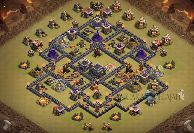Base War TH 8 di Clash Of Clans Terbaru 2017 Tipe 19