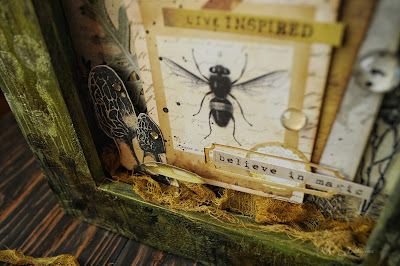 #altered#mixedmedia#scrapbooking#7dotsstudio#nature#photoframe#art#workshop#