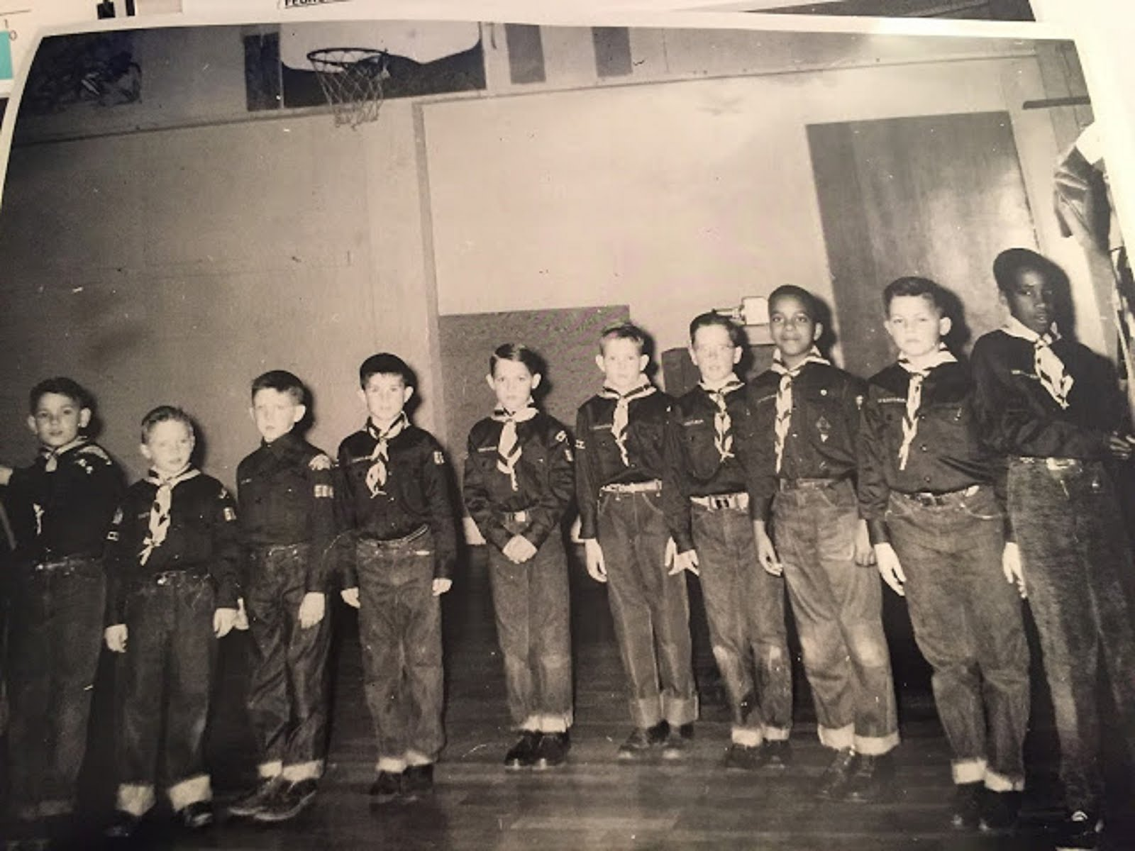 MACARTHUR ELEMENTARY SCHOOL- VANCOUVER, WA  - CUB SCOUT PACK 374 - I'AM SECOND FROM THE LEFT - 1956