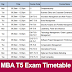 KTU MBA T5 Exam Timetable
