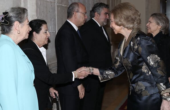 Queen Sofia and her sister Irene of Greece attended a concert given in honor of the victims of the Nazi Holocaust