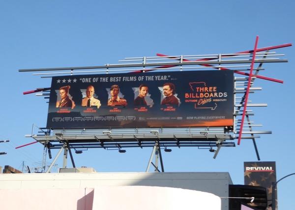 Three Billboards Outside Ebbing Missouri ad