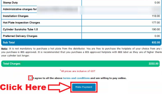 bharat gas online payment for cylinder