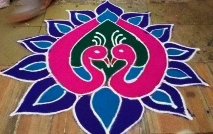 10 Best Easy simple rangoli design [ रंगोली डिजाइन ] for Diwali