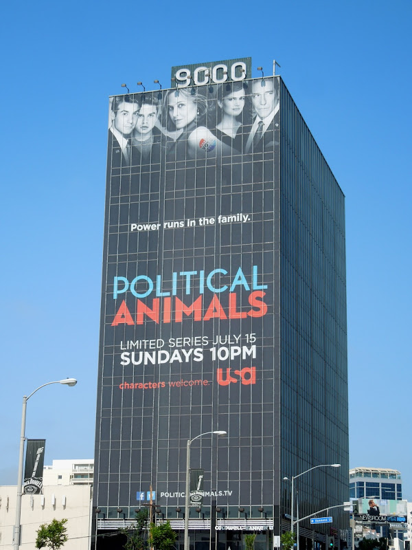 Giant Political Animals billboard Sunset Strip