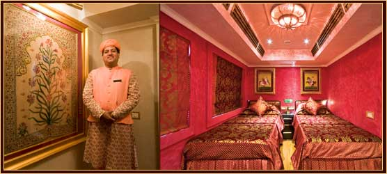 Cabin of Royal Rajasthan on Wheels Train