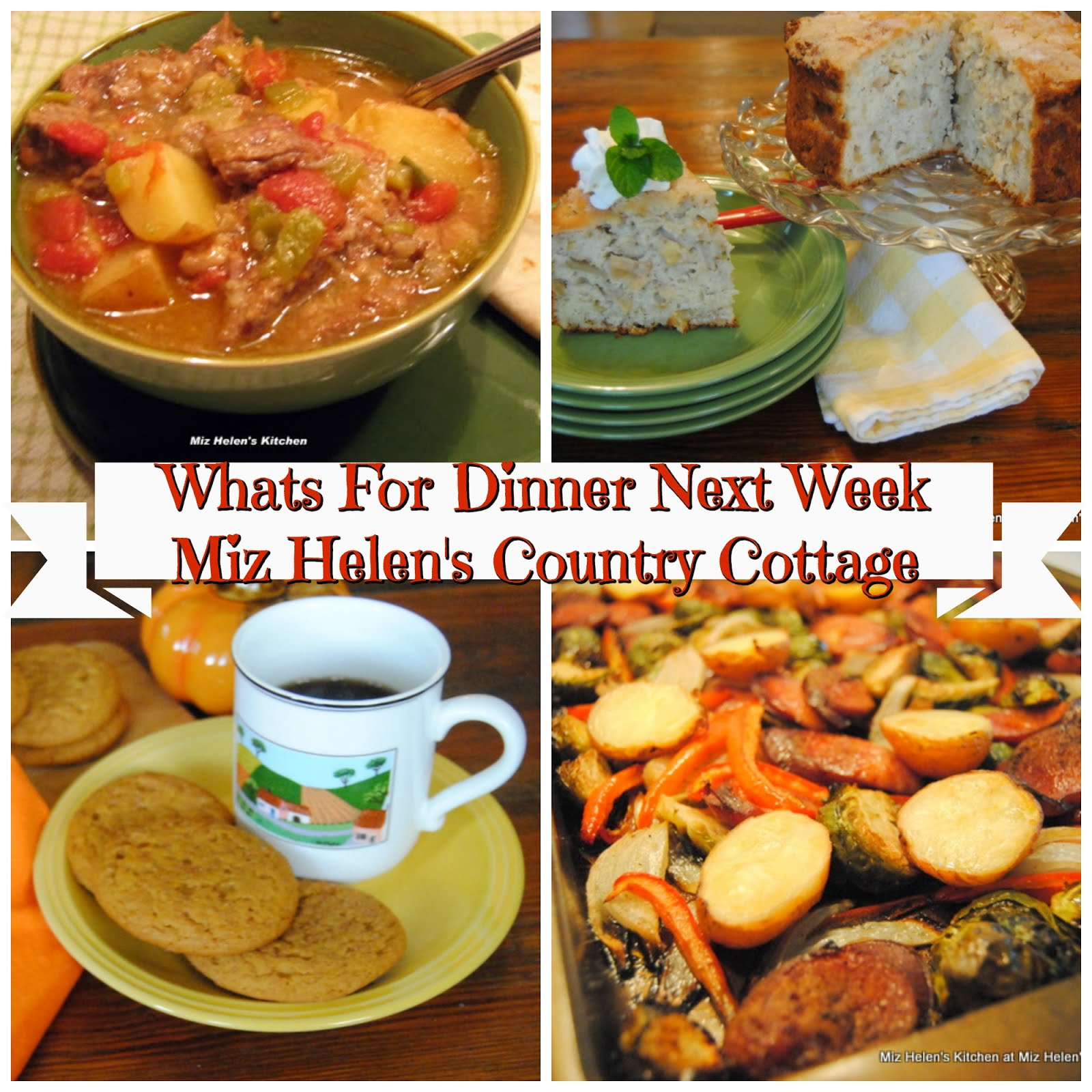 Whats For Dinner Next Week * Week of 10-13-19
