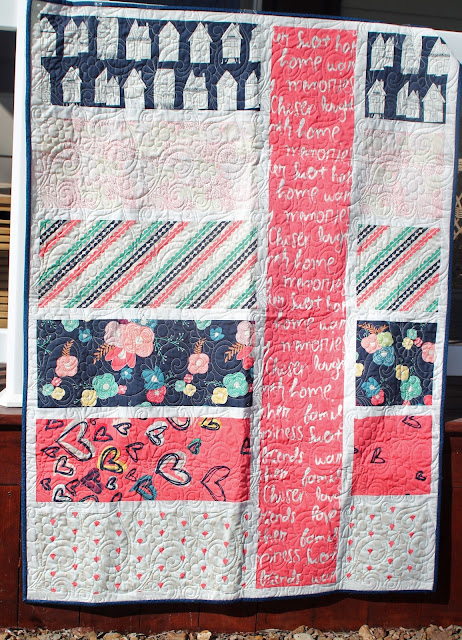 Baby Quilt from Sew Caroline's Happy Home fabrics from Art Gallery