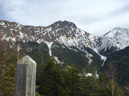 中山展望台から赤岳方面