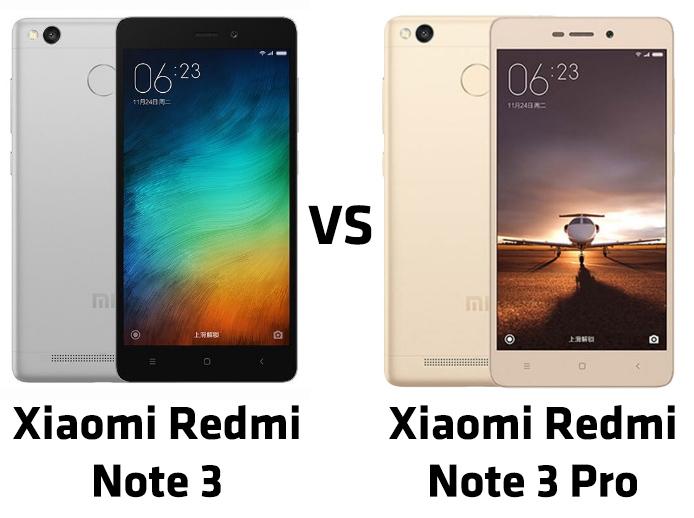 perbedaan xiaomi redmi note 3 dan redmi note 3 pro