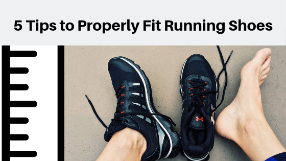 5 Tips to Properly Fit Running Shoes Banner