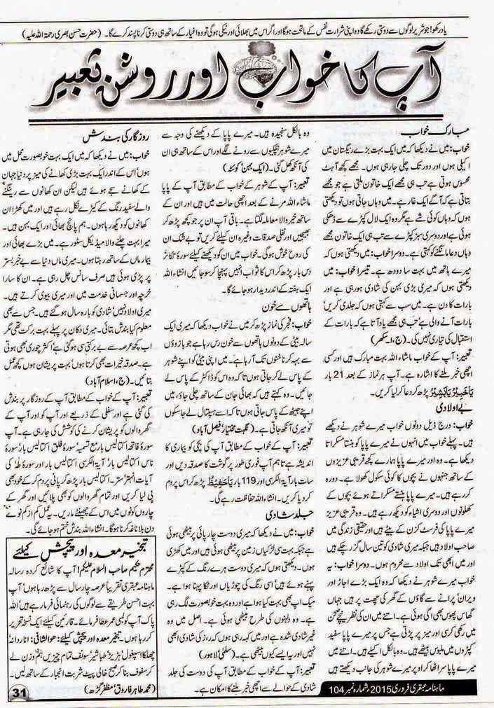 Ubqari Magazine February 2015