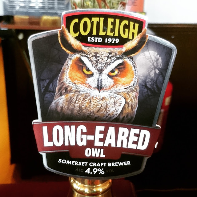 Long-Eared Owl from Cotleigh real ale pump clip