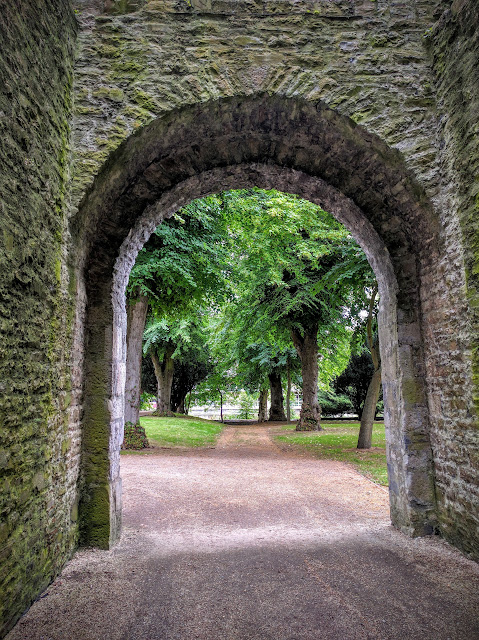 Stone archway leading to Maynooth Castle