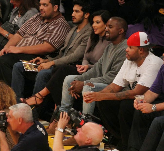 Kim Kardashian and Kanye West: witnesses to the terrible defeat of the Lakers at home!