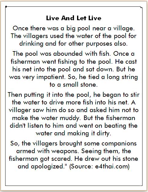 cerita bahasa inggris tentang memancing