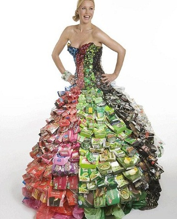 Econotascom Vestidos Con Material Reciclado Moda Y Diseño