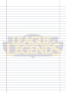 Folha Papel Pautado League of Legends PDF para imprimir na folha A4