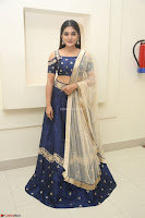 Niveda Thomas in Lovely Blue Cold Shoulder Ghagra Choli Transparent Chunni ~  Exclusive Celebrities Galleries 054.JPG