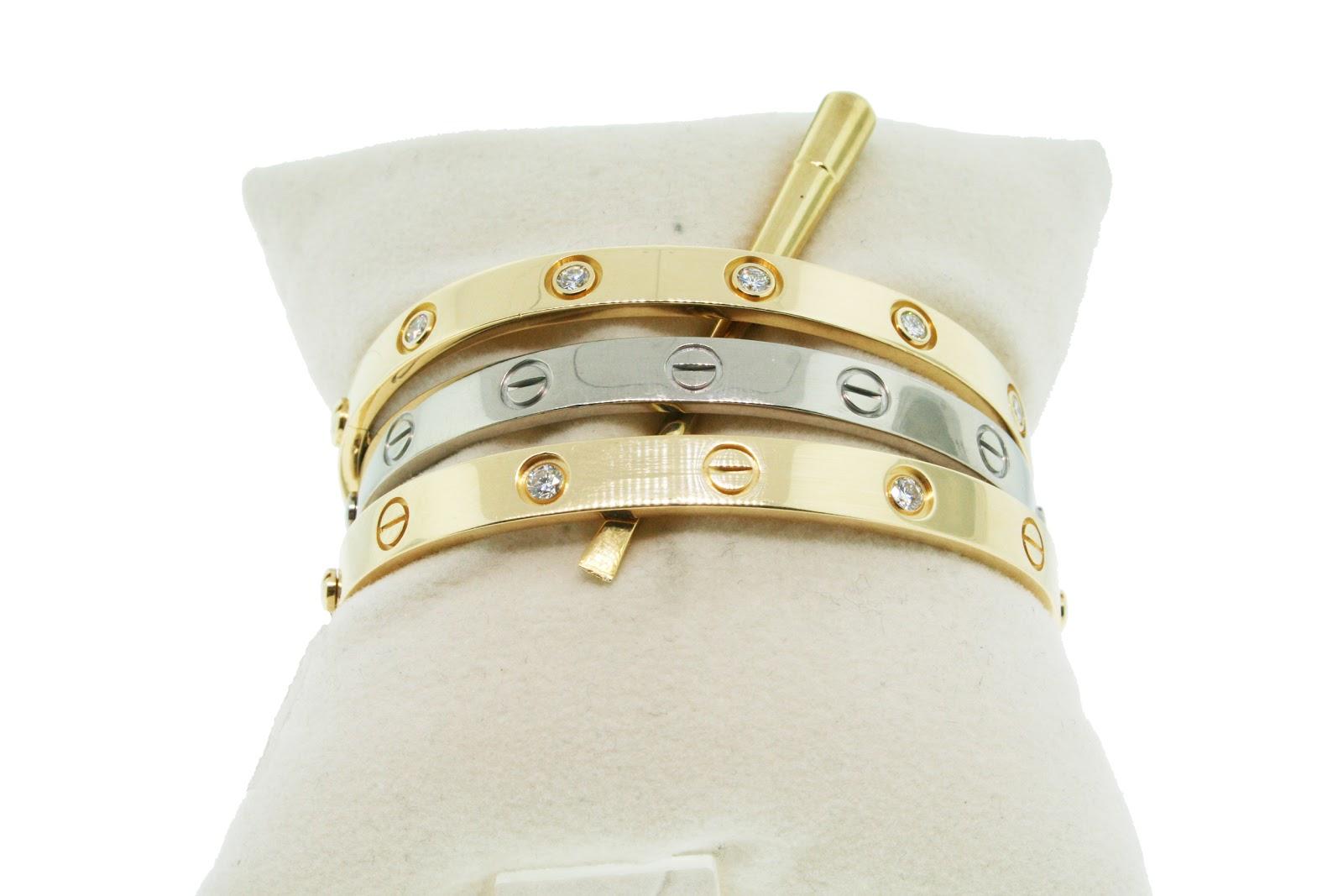 White Gold Bracelets: Cartier Bracelet Ring