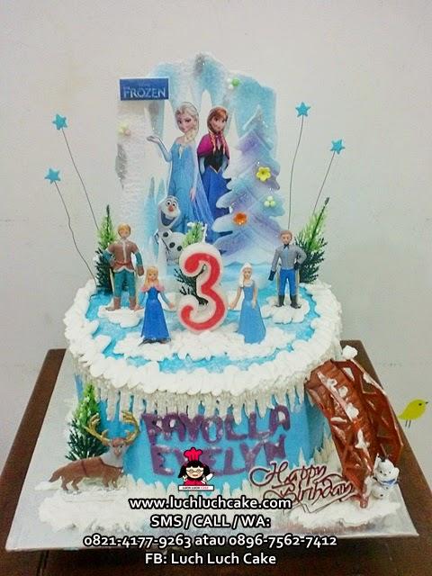 Luch Luch Cake Kue Tart Disney Frozen Buttercream Cake