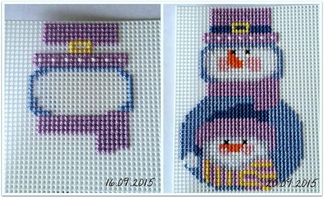 Снеговик со снеговиком Janlynn Wizzers Снеговик вышивка пластиковая канва сп вышивканапластике Janlynn Wizzers новогодняя игрушка на елку