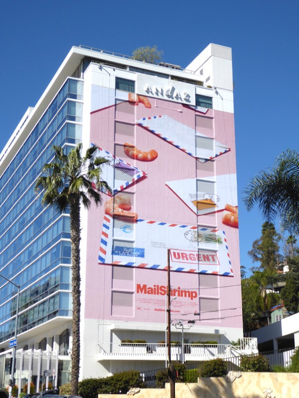 Giant Mail Shrimp Mail Chimp billboard
