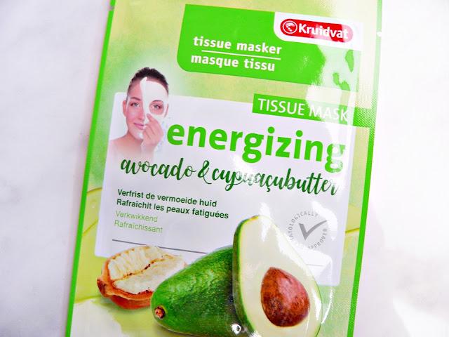 Kruidvat Tissuemasker  Energizing - Avocado & Cupuacubutter gezichtsmasker review