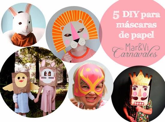 mascaras de papel para niños