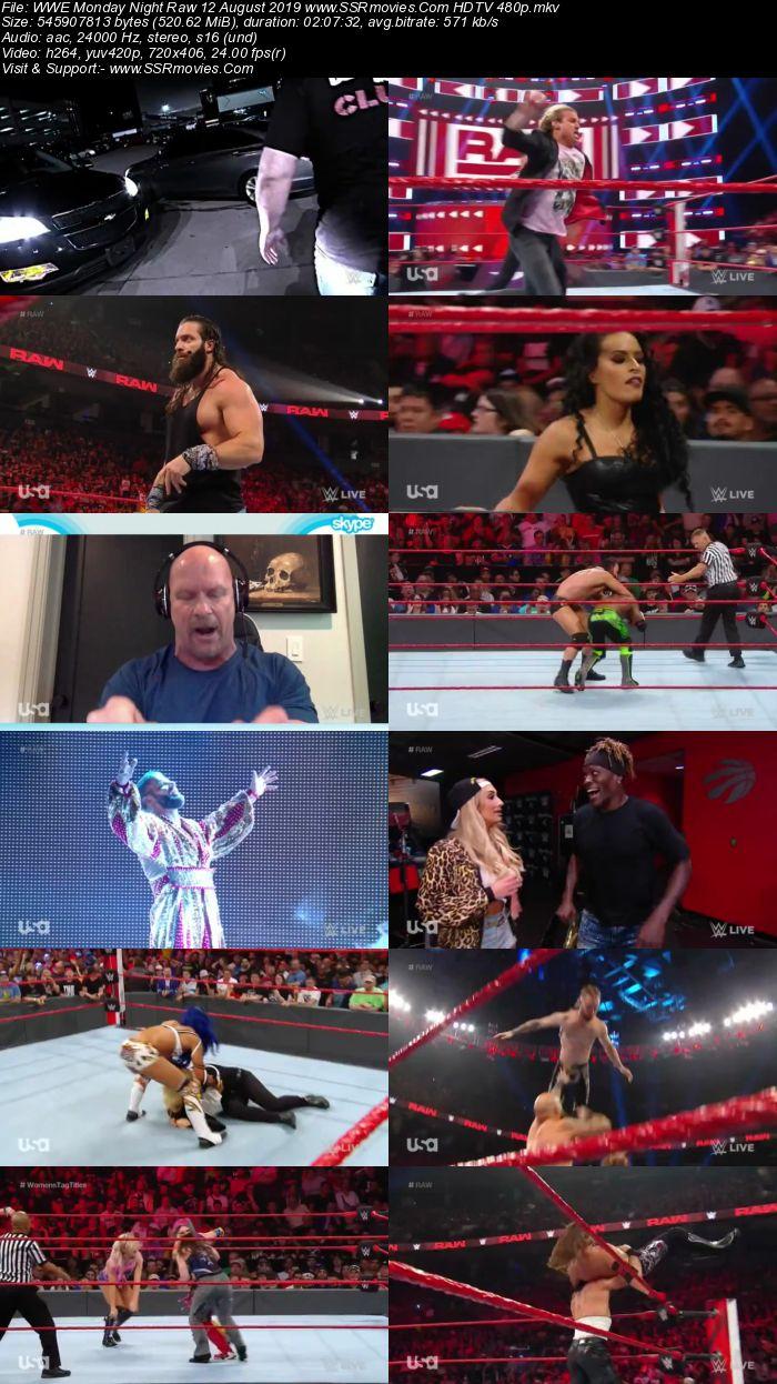 WWE Monday Night Raw 12 August 2019 Full Show Download HDTV WEBRip 480p 720p