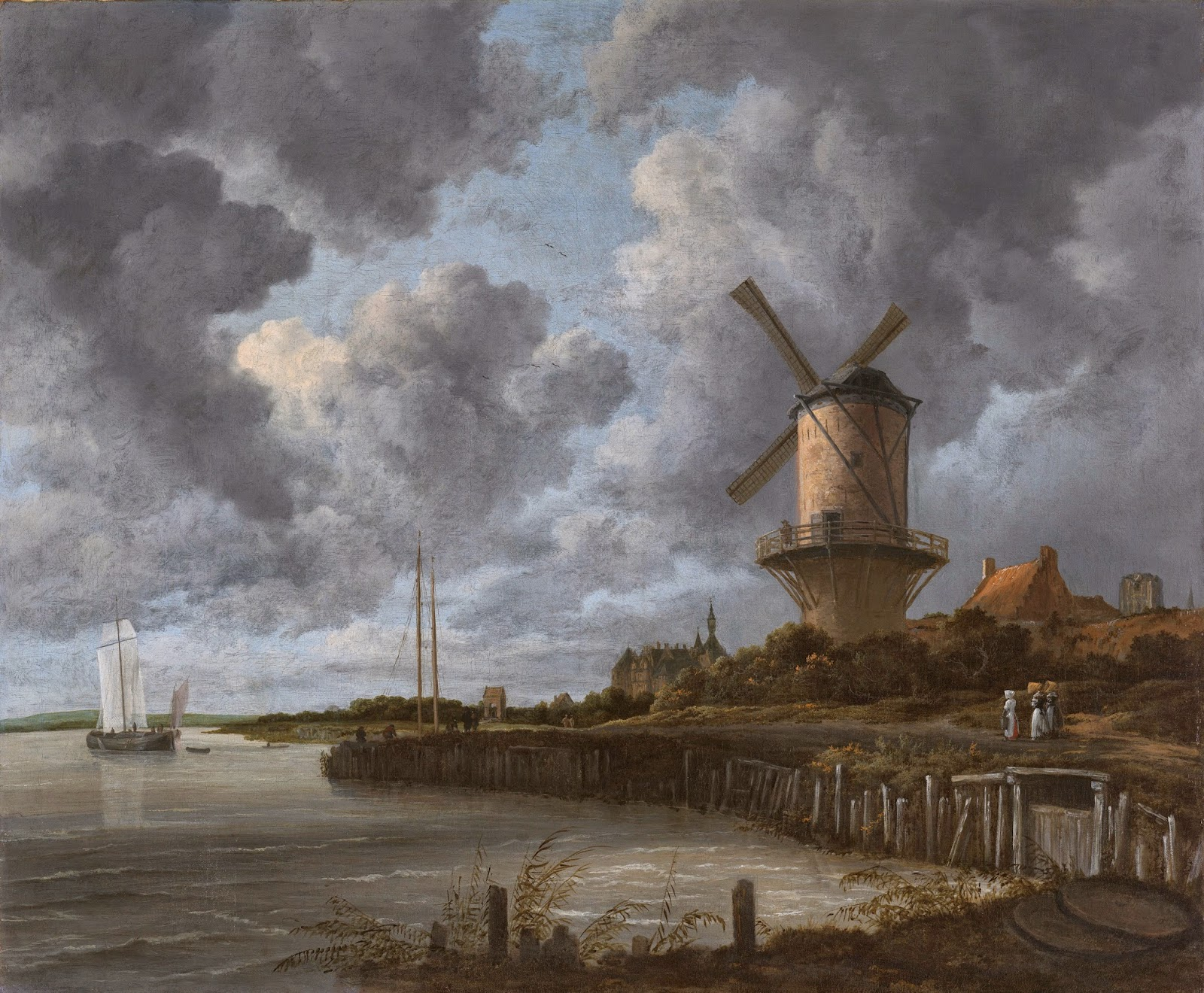 il mulino a vento a Wijk-bij-Duurstede