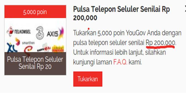 Cara Mendapatkan Pulsa Gratis Rp200.000 dari Situs Survey Yougov