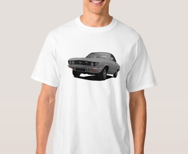 Opel Manta A -gray - shrirts