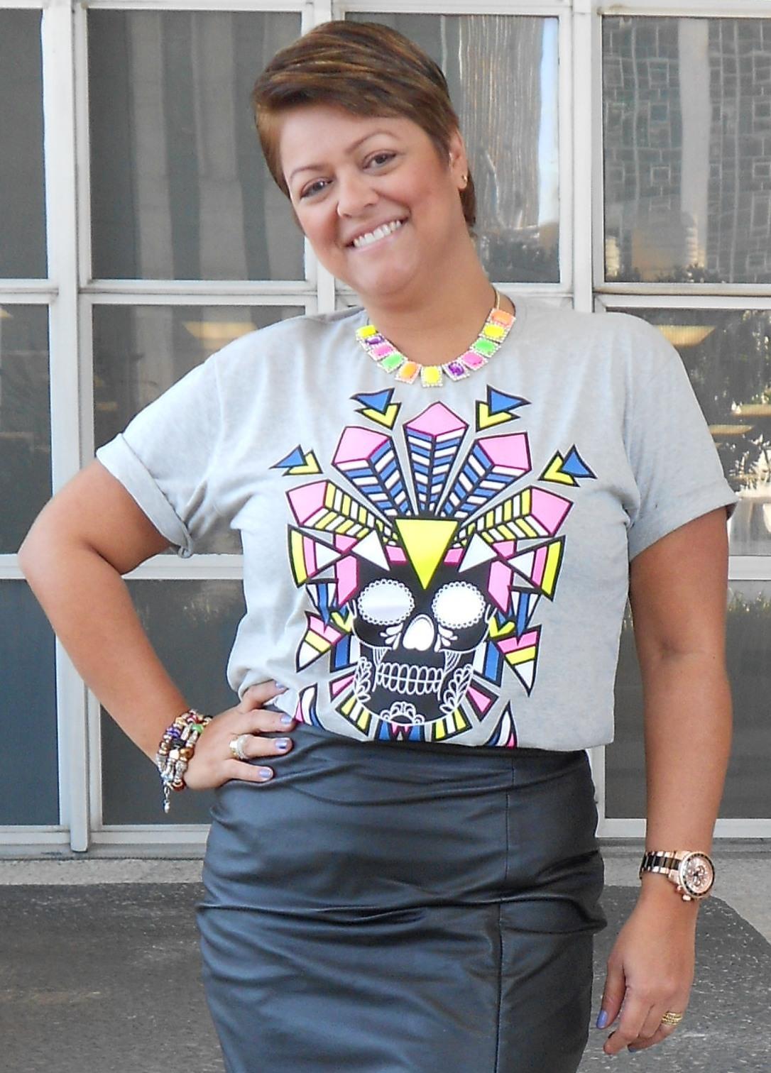 5770d5469b7 Look do dia - Camiseta + Couro + Tenis!!