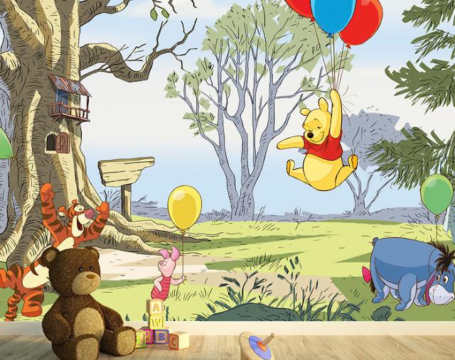 Tapetti Lastenhuoneeseen 3D Lasten Tapetti Disney Nalle Puh