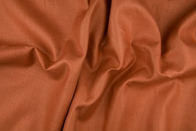 Rust Handkerchief Linen Fabric