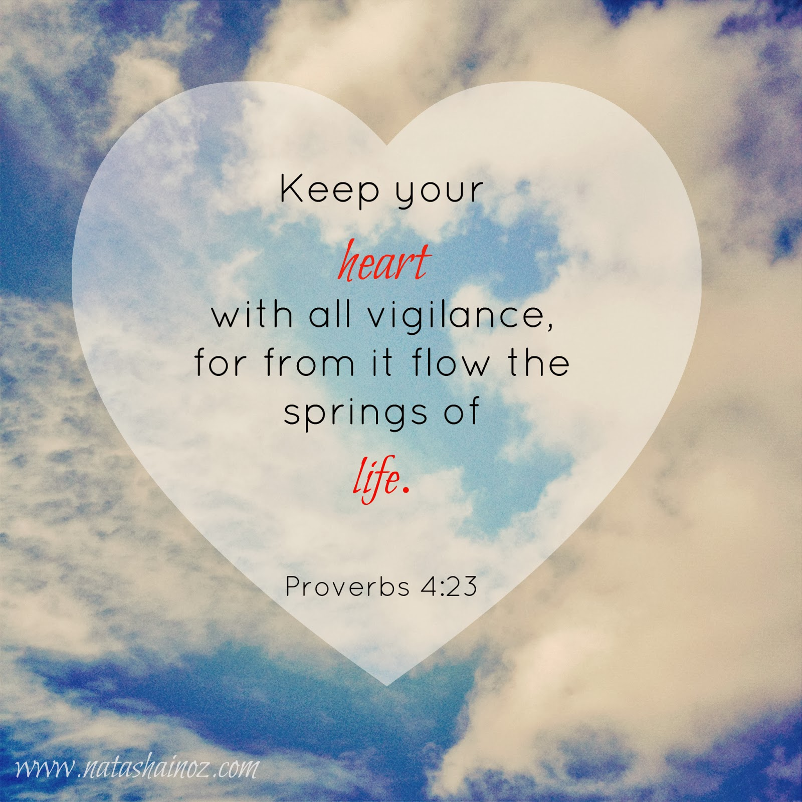 Tuesday Tune: My Heart Goes Boom Boom Boom, Keep your heart with all vigilance, Proverbs 4:23, Natasha in Oz