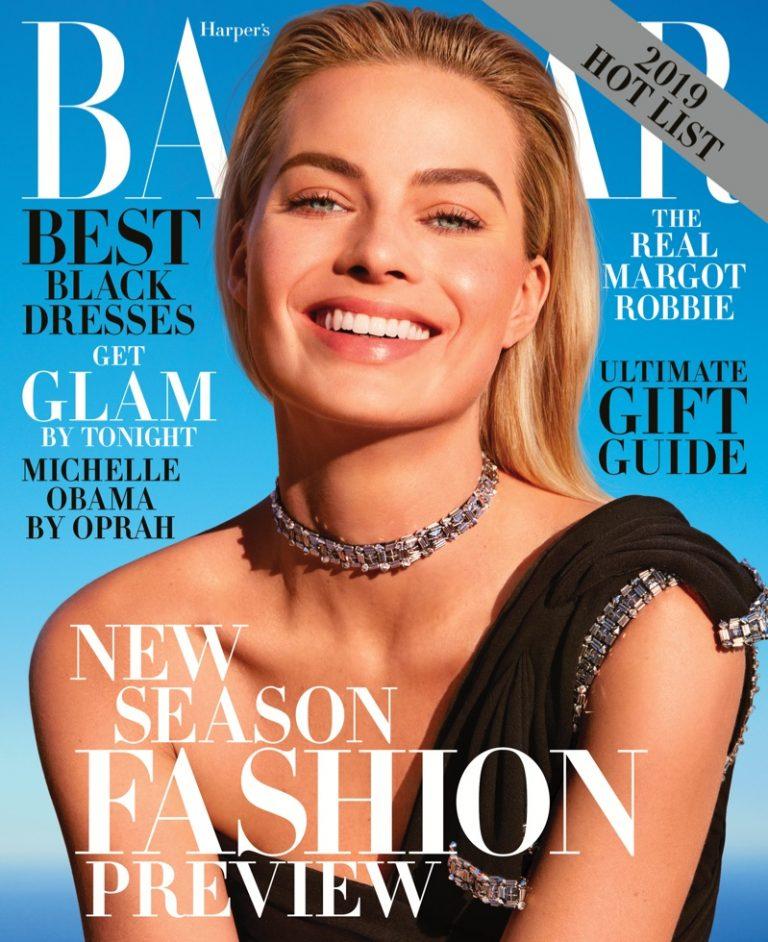 Margot Robbie on Harper's Bazaar US December/January 2018.19 Cover
